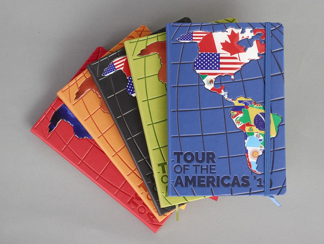 MIXED BRANDING ON JOURNAL - TOUR OF THE AMERICAS